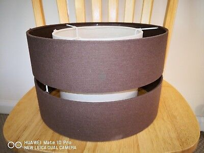Brown And Cream Double Skinned Lamp Light Shade