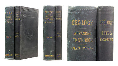 1876/1888 Old Antique 19th Century Geology 2vols Introductory & Advanced Page