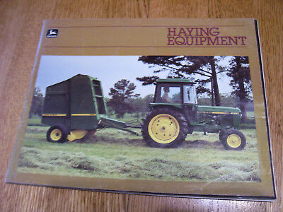 Vintage John Deere Advertising Brochure -Haying Equipment - 1982