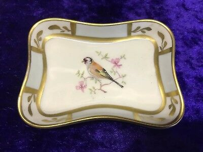 Dubarry Limoges Hand Painted Goldfinch Bird Dish