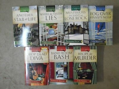 Lot of 7 Heartsong Presents Mysteries Religion, Christian, Mystery Paperbacks