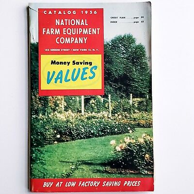 Vintage 1956 National Farm Equipment Company Catalog Advertising Agriculture