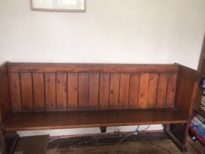 Church Pew Bench solid wood.Genuine antique not reproduction.