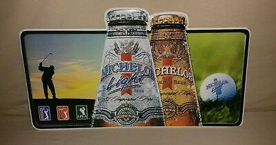 Michelob /Michelob Light Beer Metal Sign - PGA, LPGA - GREAT FOR THE MANCAVE!!!