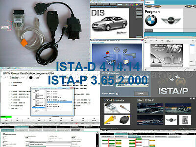 For ISTA-D 4.14.14 ISTA-P 3.65.2.000 DIS INPA NCS USB K+DCAN ENET cables 20 pin