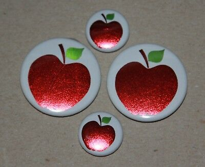 4 Apple Foil Magnets- Makes A Great Gift For A Teacher