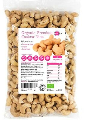 Organic Cashew Nuts 1kg 3kg Raw Natural Cashews Unsalted Unroasted Kernals 1000g