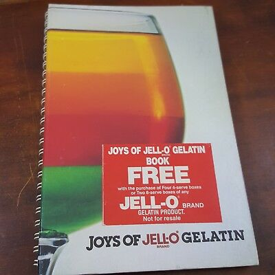 Joys Of Jello gelatin recipe book 1980's retro dessert congealed Salad