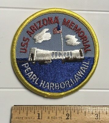 USS Arizona Memorial Monument Pearl Harbor Hawaii HI Embroidered Round Patch