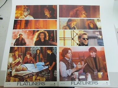 """FLATLINERS - Set of 8 Lobby Cards 11x14"""" Movie Posters 1990 / Julia Roberts"""