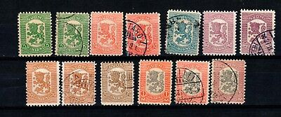 Finland SC# 111-118  Used  1918