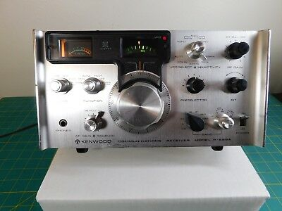 Kenwood R-599A Silver HF Communications Receiver Kenwood Twin tests good  NR