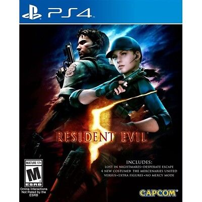 GIOCO PS4 RESIDENT EVIL 5 play station 4 MULTILINGUE