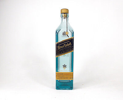 Empty whiskey bottle Empty Johnnie Walker Blue Label Scotch whisky with cork