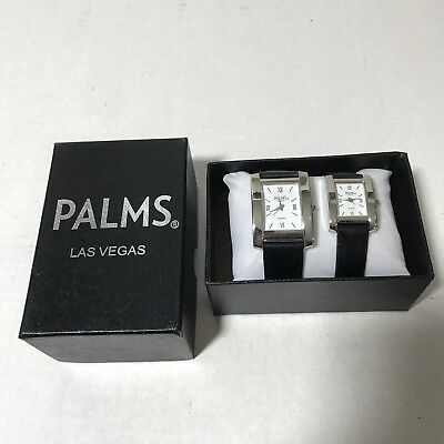 The Palms Hotel Casino Las Vegas His And Hers Chrome Watches Black Band