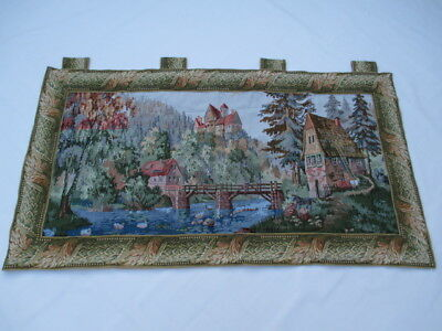 Old French / Belgium Tapestry Wall Hanging - 164 x 90 cm ( 4615 )