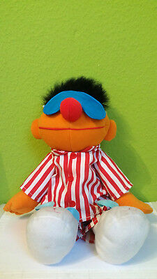 """Ernie - Sesamstrasse Puppe """"Sing and Snore Ernie"""" Jim Henson Tyco 1998"""