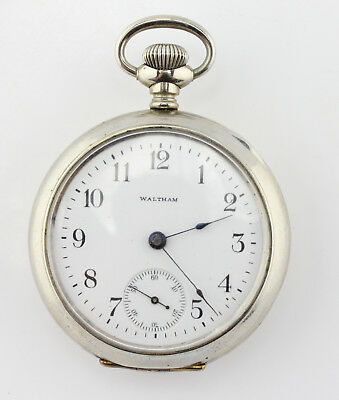 Waltham Antique Pocket Watch 18S 7J M1883 Running Nice Condition No Res #3474-4