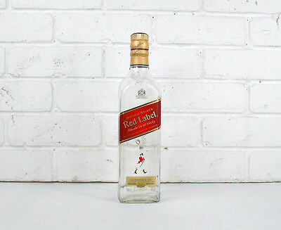 Empty whiskey bottle Empty Johnnie Walker Red Label Scotch whisky 750ml