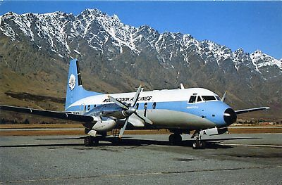 Mount Cook Airlines - Hawker Siddeley Hs748 - Postcard View