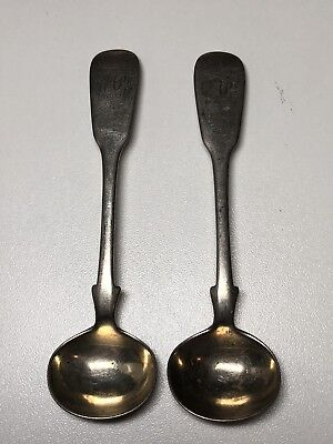 Pair Of Silver Salt Spoons, Hallmarked Exeter 1842?