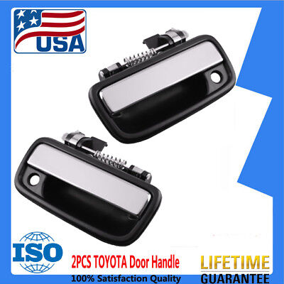fits 95-04 TOYOTA TACOMA Front Door Handle LH and RH Truck,Chrome,Outside AST