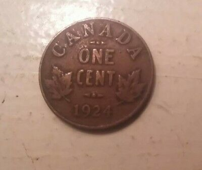 1924 Canada Small Cent Coin - KM# 28