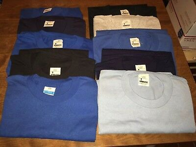 (10) Vintage 1980s ROEBUCK Cotton/Poly Mens Tee Shirts  7-XL 3-L