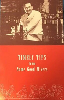 Coca Cola 1940s Timely Tips From Some Good Mixers Bartenders Salesman Pamphlet