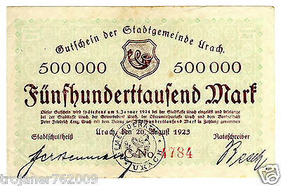 R !!! 500 000 MARK - aus URACH - 1923 !!!!!