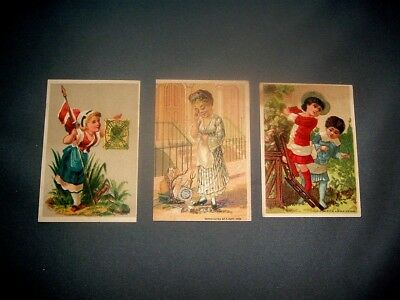 Three Victorian trade cards for The Great Atlantic & Pacific Tea Co. 1882