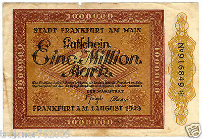 R !!! 1 MILLION MARK - FRANKFURT am MAIN - 1923 !!!!!