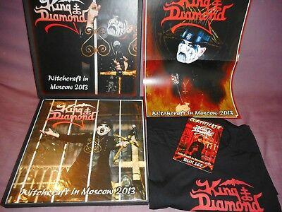 """KING DIAMOND """" witchcraft in Moscow 2013"""" 2lp TEST PRESSING boxset 20 copies!!!"""