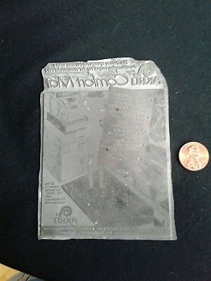 Vintage Printing Plate - The Akro Corporation - Comfort Mat Advertisement