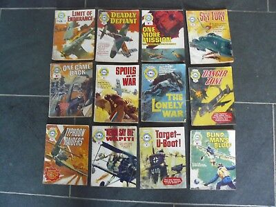 12 x Fleetway Library Air Ace Picture Library Comics