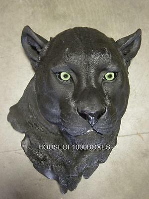 Black Panther Head Wall Mount Jungle Home House Decor Night Vision Puma Cat