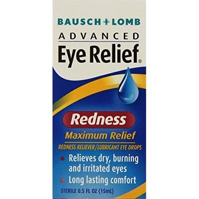 Bausch and Lomb Advanced Eye Relief Redness Maximum Relief Drops -- 0.5 oz.