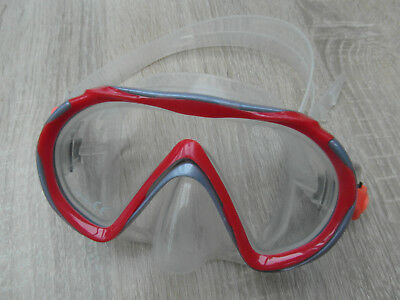 Kinder Taucherbrille Transparent/Rot