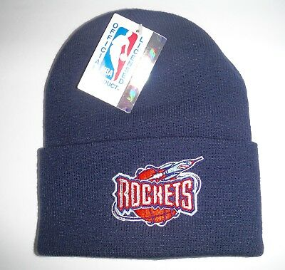 new product 73691 2c00b Houston Rockets Vintage NWT Authentic Beanie Knit Hat LOGO 7 NBA 1 Day  Shipping