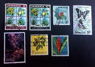 Jamaica - 7 old used stamps / 03