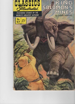 Classics Illustrated #97 King Solomon's Mines H Rider Haggard