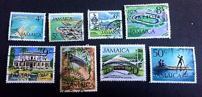Jamaica - 8 old used stamps / 04