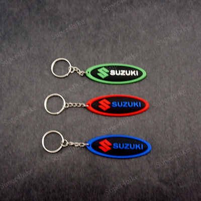 Keychain Rubber Key ring Motorcycle Car Collectible Gift For SUZUKI GSXR 3 Color