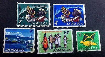 Jamaica - 5 old used stamps / 07