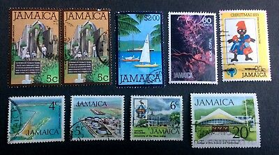 Jamaica - 9 old used stamps / 09