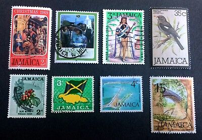 Jamaica - 8 old used stamps / 10