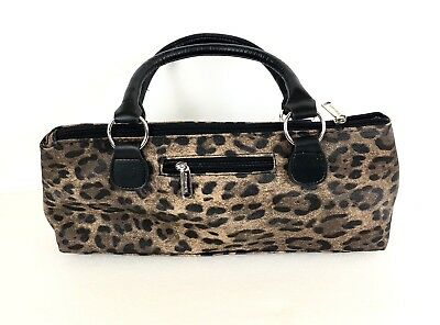 Insulated Wine Bottle Cooler Carrier Tote Zippered Leopard Print Wine Lover