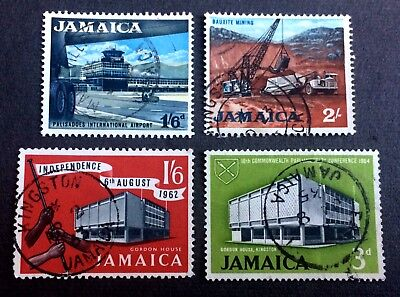 Jamaica - 4 old used stamps / 11