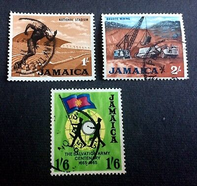 Jamaica - 3 old used stamps / 13
