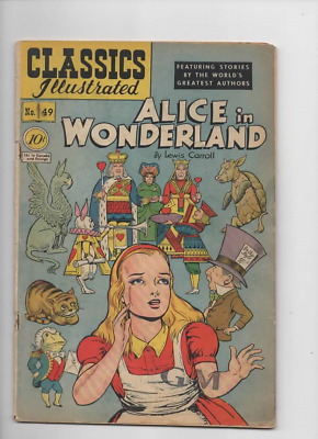 Classics Illustrated #49 Alice in Wonderland Lewis Carroll